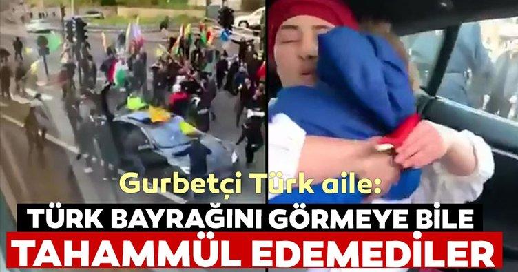 Türk bayrağını görmeye bile tahammül edemediler