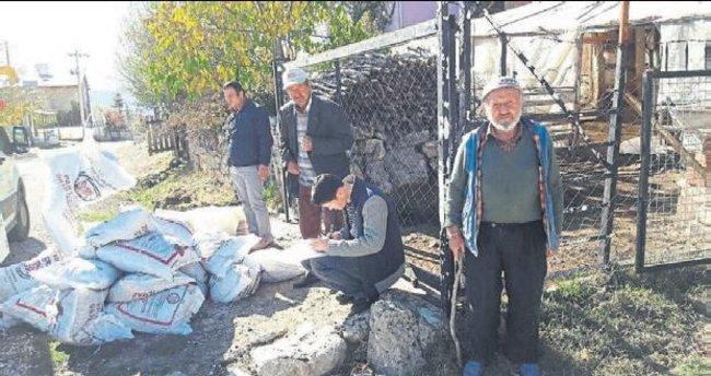 Seydikemer'de 750 ton kömür dağıtıldı