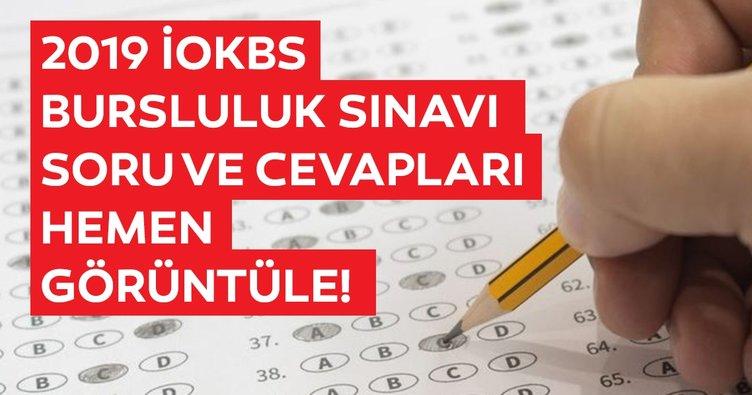 Bursluluk sınavı soruları ve cevapları yayınlandı! MEB ile 2019 İOKBS Bursluluk sınavı sonuçları ne zaman açıklanacak?
