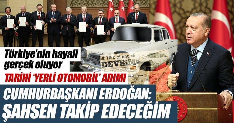 Cumhurbaşkanı Erdoğan: İlk arabayı ben alacağım