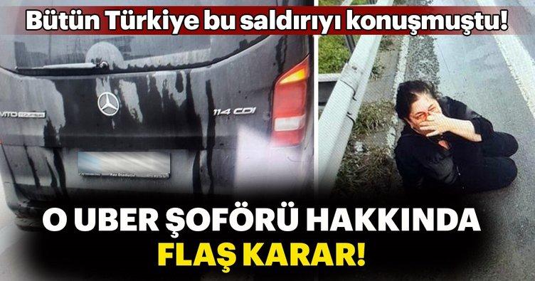 Müşterisini döven Uber şoförü hakkında dava açıldı!