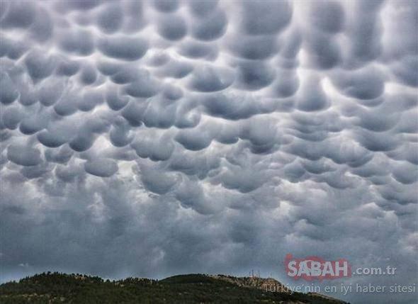 Gökyüzünde ilginç görüntüler!