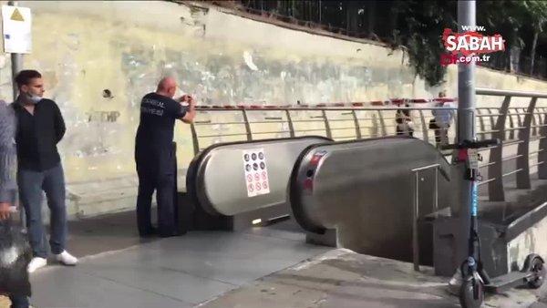 Şişli-Mecidiyeköy metro istasyonunda bir kişi metro raylarına düştü   Video