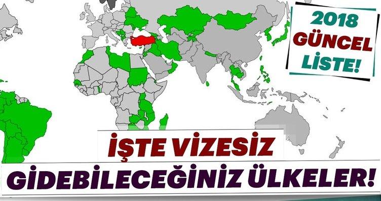 Türk vatandaşlarından vize istemeyen ülkeler (2018...
