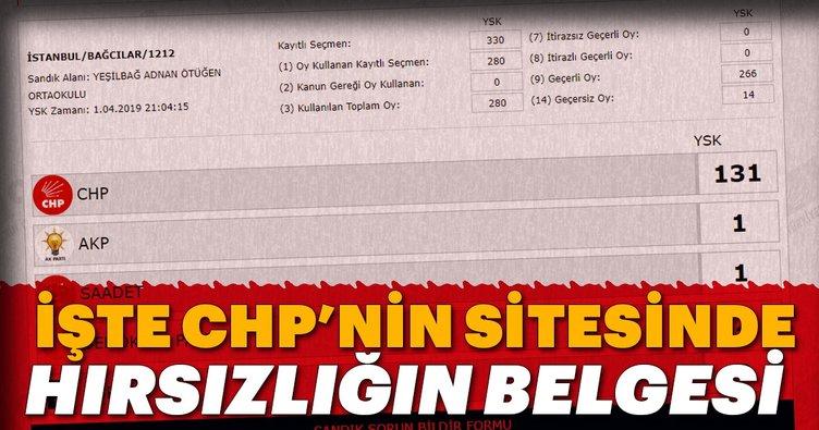 İstanbul'daki skandal, CHP'nin sitesinde böyle yayınlandı!