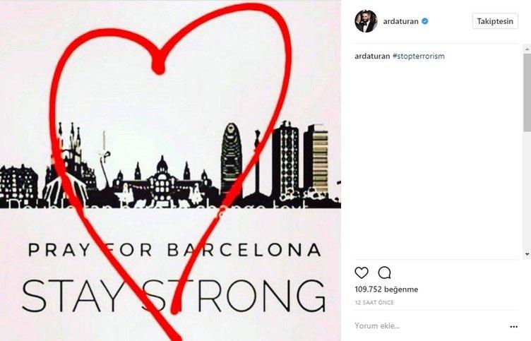 Barselona'daki saldırı sonrası Arda Turan ve arkadaşları...