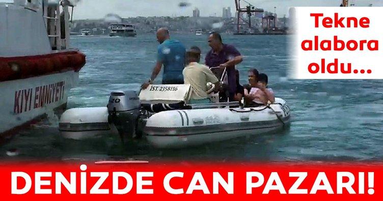 Kadıköy Haydarpaşa açıklarında can pazarı! 5 vatandaş denizde mahsur kaldı...
