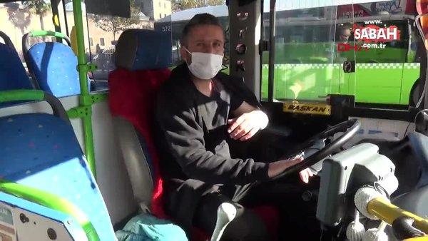 Trafikte kavga ettiği halk otobüsü şoförüne copla saldırdı | Video