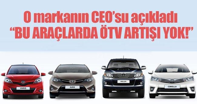 Toyota CEO'su Bozkurt'tan ÖTV açıklaması