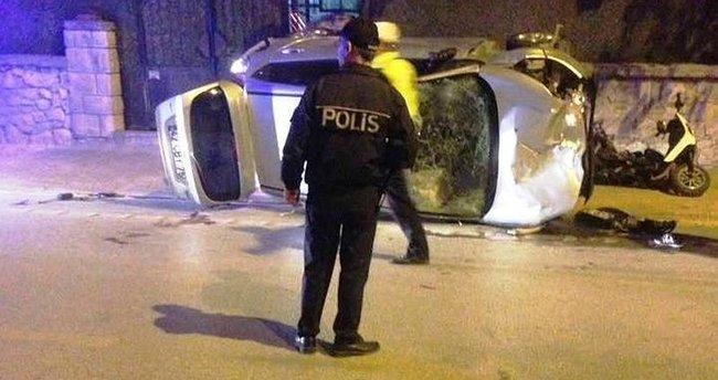 Kontrolden çıkan otomobil yayalara çarptı: 1 ölü, 5 yaralı