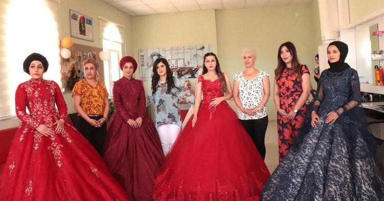 Midyat'ta genç kızların gelinliği ve makyajı ADEM'den