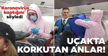 Uçakta `koronavirüs` şakası yaptı, gözaltına alındı