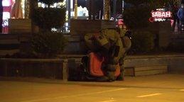 Bolu'da, şüpheli bavulu, bomba imha robotu 'Ertuğrul' böyle patlattı!