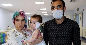 Süt kazanına düşen 15 aylık Nurullah'tan güzel haber geldi