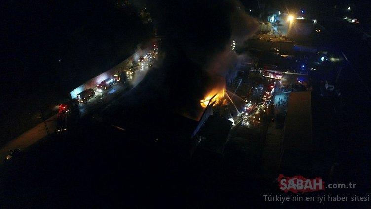 Trabzon'da balık fabrikasının soğuk hava deposunda yangın çıktı