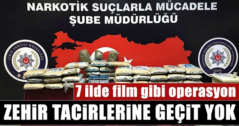 Son dakika: İzmir merkezli 7 ilde uyuşturucu operasyonu
