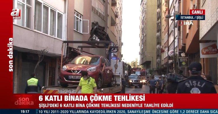 Son dakika: İstanbul'da 6 katlı bir binada çökme tehlikesi