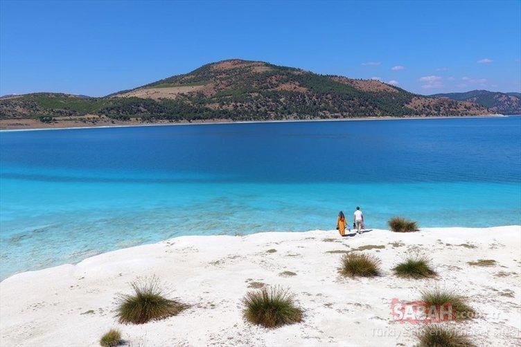 Türkiye'nin Maldivleri Salda Gölü bu yaz binlerce ziyaretçiyi ağırladı