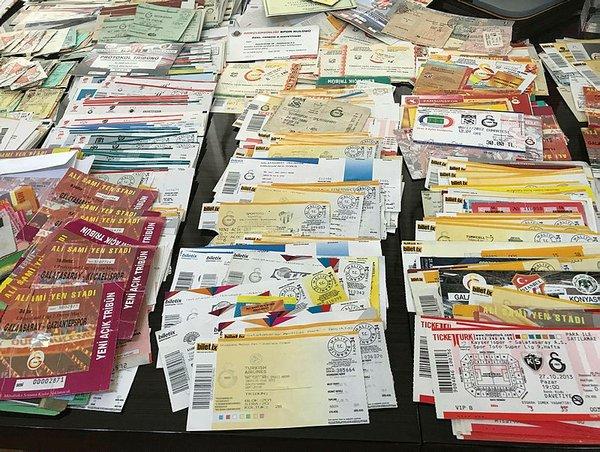 Yok böyle bilet koleksiyonu!