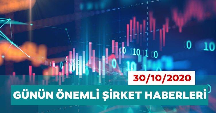 Borsa İstanbul'da günün öne çıkan şirket haberleri ve tavsiyeleri 30/10/2020