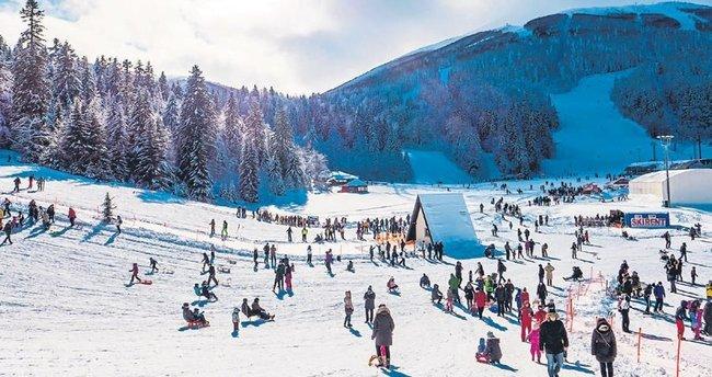 Bosna'ya kayak yapmaya gittik