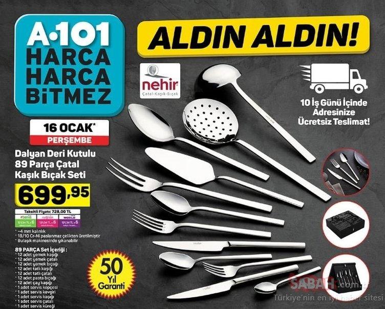 A101 aktüel ürünler kataloğu yayında! Yeni hafta 16 Ocak A101 Aktüel ürünler kataloğu sürpriz indirimlerle geldi