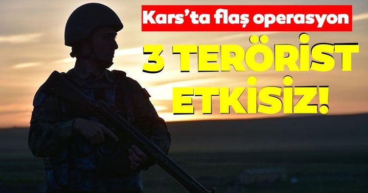 Son dakika: Kars'ta 3 terörist etkisiz hale getirildi