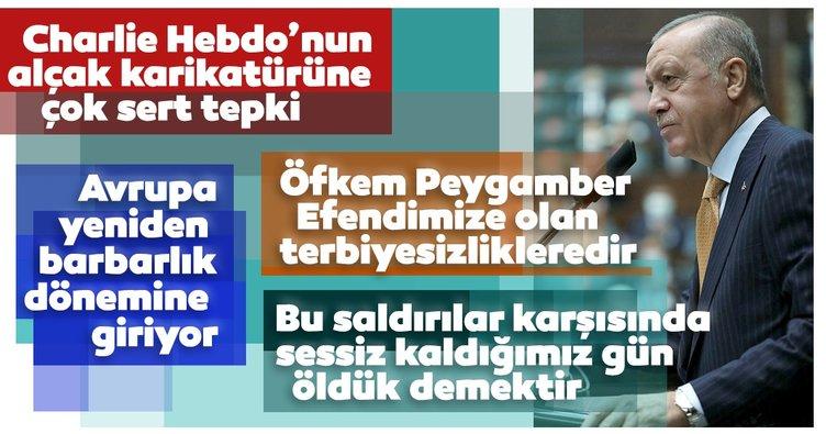 SON DAKİKA... Başkan Erdoğan'dan Charlie Hebdo'nun alçak saldırısına ilk yorum