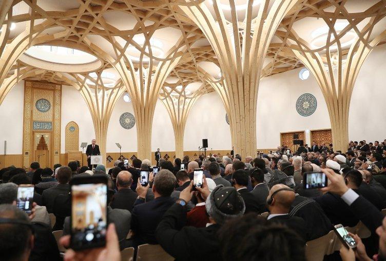 Caminin açılışı Başkan Erdoğan'ın katıldığı törenle yapıldı