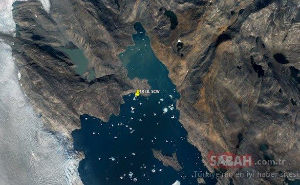Google Haritalar'da keşfedildi! Grönland'da milyonlarca yıl önce düşmüş UFO bulundu!