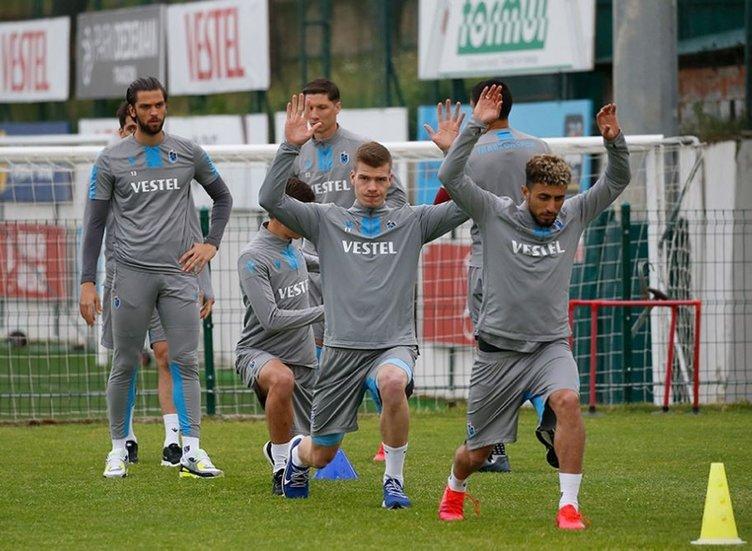 Trabzonspor'da tedbirler arttı! İşte idmandan kareler