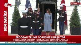 ABD Başkanı Donald Trump, Başkan Erdoğan'ı böyle karşıladı