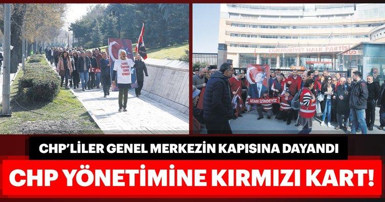 CHP yönetimine kırmızı kart