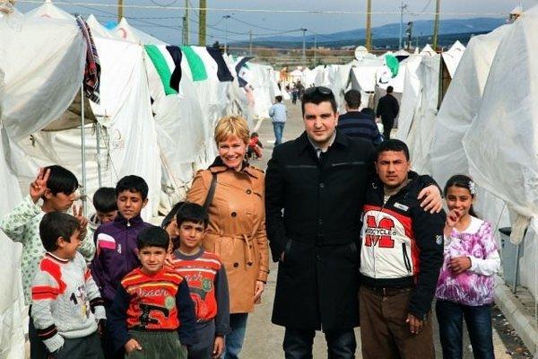 Mülteci kampından çok özel kareler