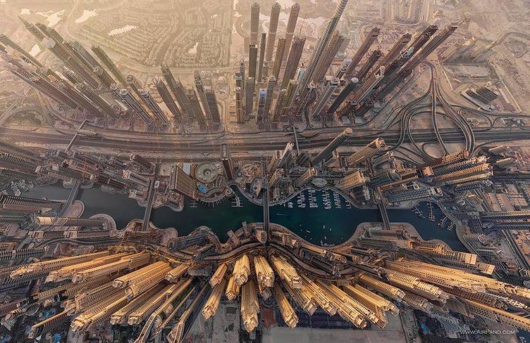 Şehirlerin tepeden görünümü