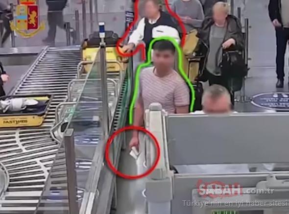 Havalimanında kaptı, tuvalete koştu