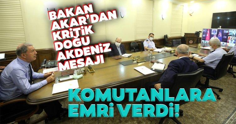 Son dakika haberi: Bakan Akar'dan net Doğu Akdeniz mesajı!  Bölgede hiçbir oldubittiye izin verilmeyecek