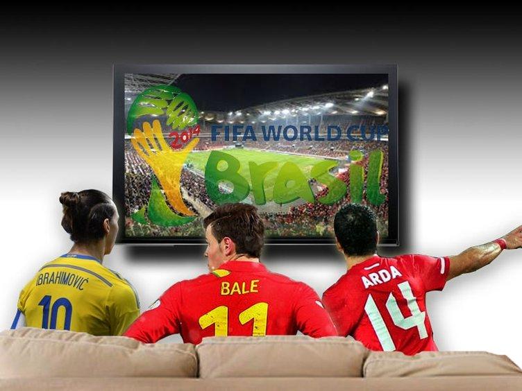2014 Dünya Kupası'nı televizyondan izleyecek yıldızlar