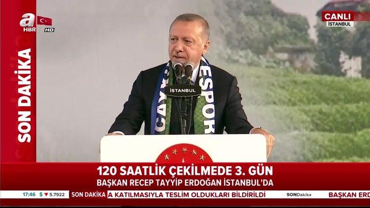Başkan Erdoğan, Rize Günleri programında konuştu