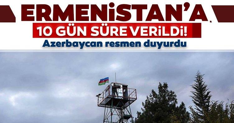 Son dakika haberi   Azerbaycan resmen duyurdu! Ermenistan'a 10 gün süre verildi...
