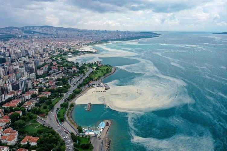 Müsilaj Deniz salyası kabusu! Bu görüntüler İstanbul'un göz bebeği Caddebostan'dan