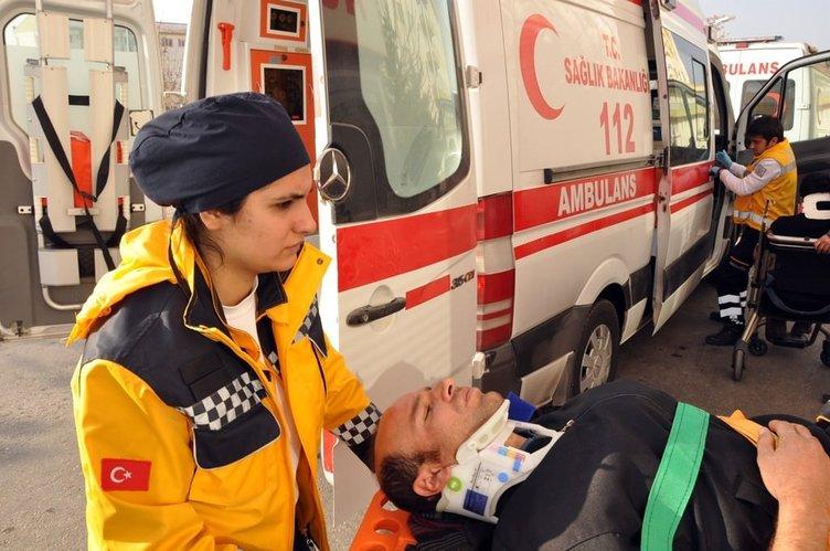 Aksaray'da 11 araçlı zincirleme kaza