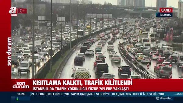 SON DAKİKA: İstanbul'da kısıtlama sonrası trafik yoğunluğu kamerada! Yüzde 80... | Video