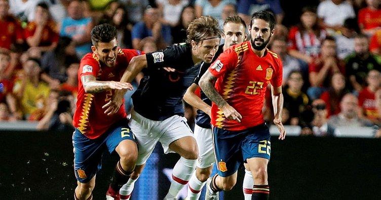 İspanya'dan Hırvatistan'a gol yağmuru