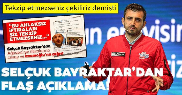Son dakika: Baykar Teknik Müdürü Selçuk Bayraktar açıkladı!  İBB ile olan sözleşme feshedilecek