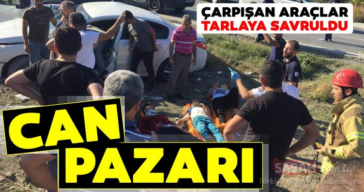 Arnavutköy'de kaza sonrası can pazarı yaşandı