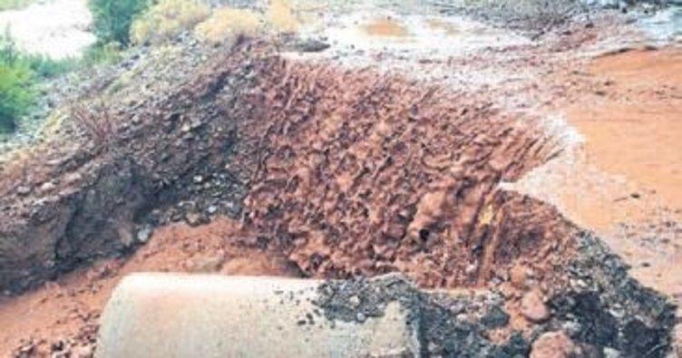 Çameli'nde aşırı yağış etkili oldu