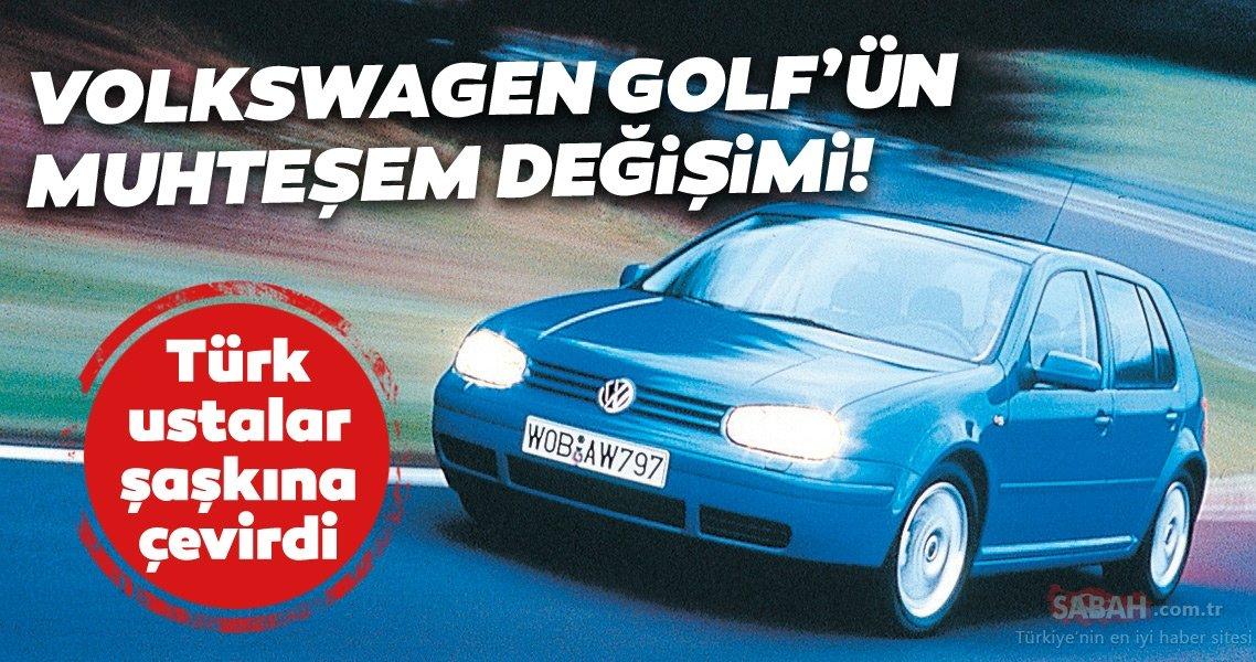 Volkswagen Golf değişimiyle şaşkına çevirdi! Türk ustalar eski Golf'ü bakın nasıl yeniledi - Sabah