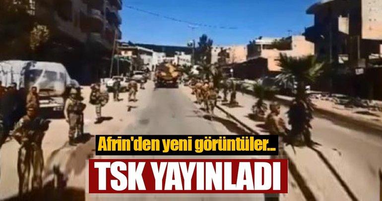 Son dakika: TSK yayınladı! Afrin'den yeni görüntüler...