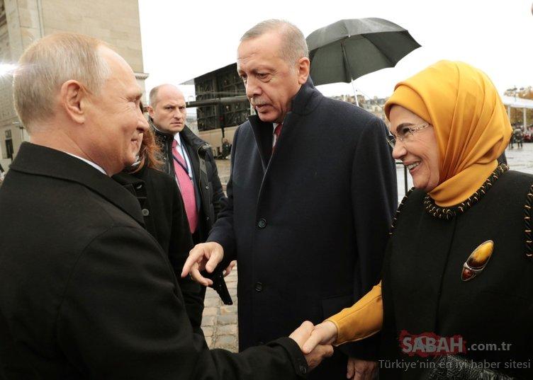Son dakika: Başkan Erdoğan Fransa'da Putin ile bir araya geldi